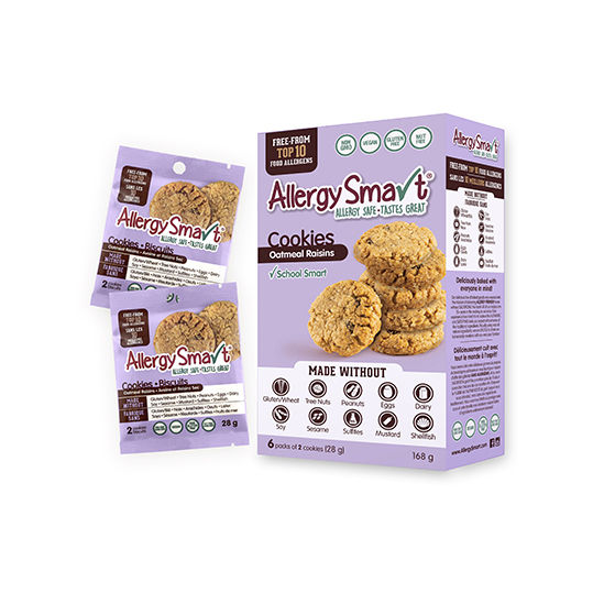 AllergySmart Oatmeal Raisin Cookies