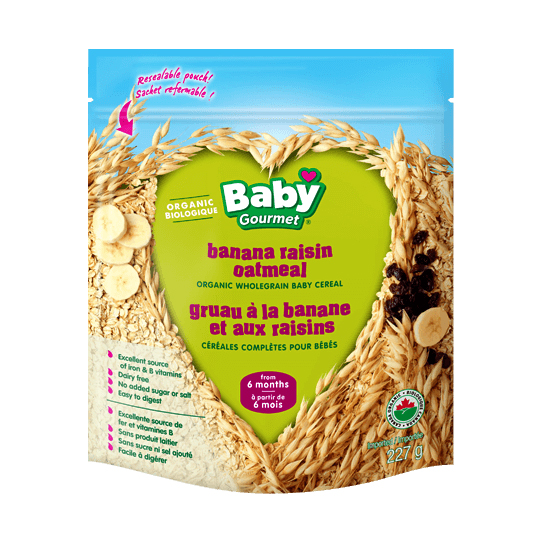 Baby Gourmet Infant Cereal Banana Raisin