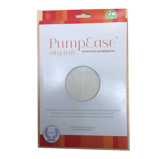 Pumpease Hands Free Organic Hands-free Pumping Bra - Size Large
